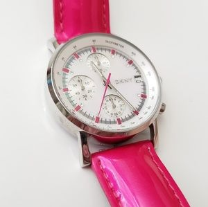 DKNY Pink Leather Stainless Steel Women's Watch